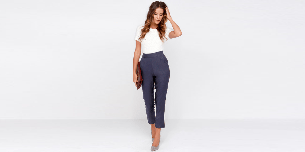 White t shirt high waisted Pant fashion style design chic