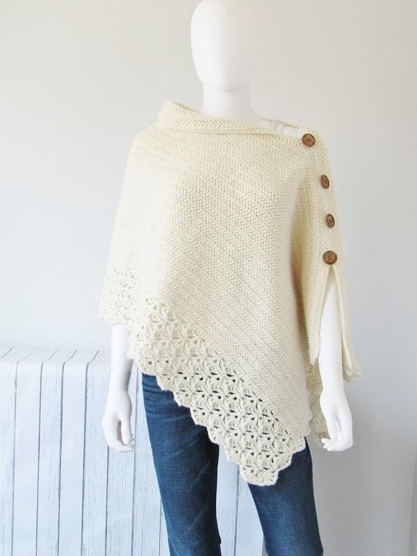 Au GratuitMery Poncho Pour Femme Crochet Modèle 08mNnw