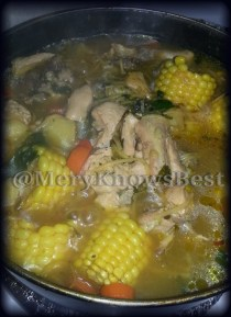 Chicken soup - it was banging
