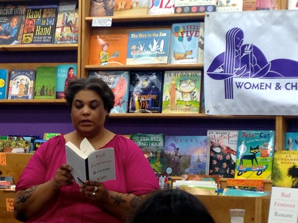 """Roxane Gay read from her book of essays, """"Bad Feminist,"""" at Women & Children First."""