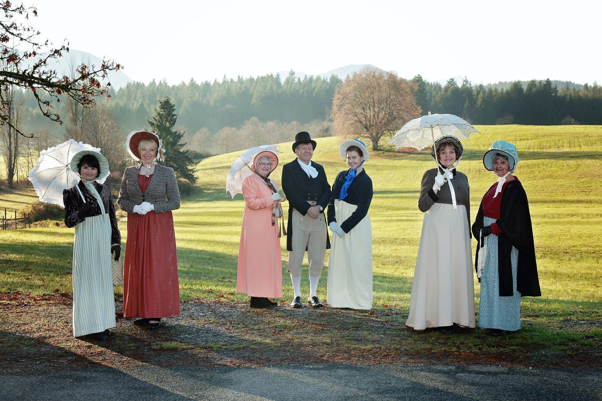Port Alberni goes for the #Regency #Costuming World Record!