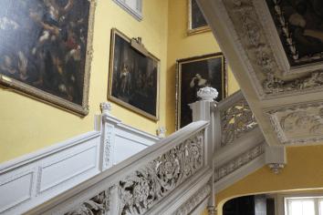 Sudbury Hall-Photo by Janet Taylor Beautiful main staircase inside Pemberley