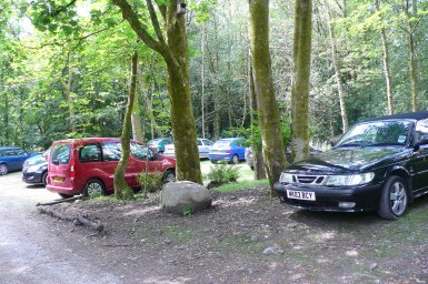 The re-surfaced car park in use.