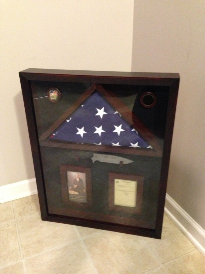 Military Service Shadow Box
