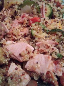 quinoa jambon ratatouille express pour une idée repas equilibree