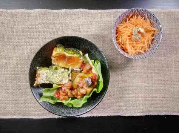 un flan brocoli et saumon fumé délicieux