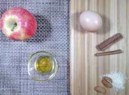 quelques ingrédients pour un gouter pomme amande cannelle délicieusement simple