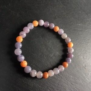 Bracelet lépidolite mixée calcite