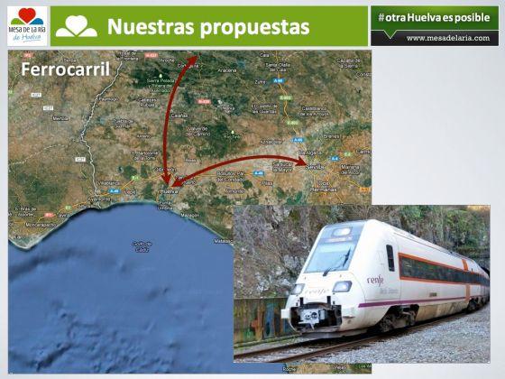 """Propuesta de infraestructuras necesarias en """"otra Huelva es Posible""""."""