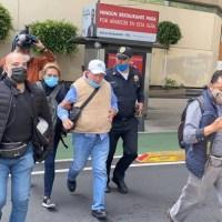 Dirigente de FRENA abandona plantón en avenida Juárez por problemas de salud