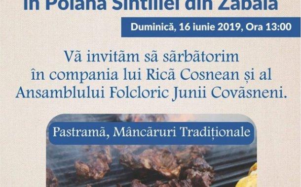 Rusaliile, marcate în Poiana Sintiliei, din Zăbala