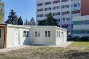 Clădire modulară pentru triaj şi urgenţe COVID-19, la Spitalul Judeţean din Sfântu Gheorghe