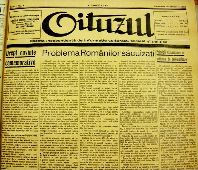 Expoziţia fotodocumentară  Presa românească și bilingvă din județele Ciuc, Odorhei și Trei Scaune din perioada interbelică