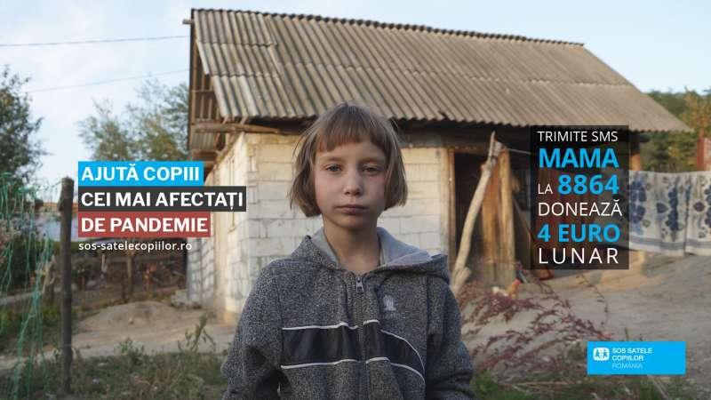 """Asociaţia SOS Satele Copiilor România lansează campania """"Ajută copiii cei mai afectaţi de pandemie''"""