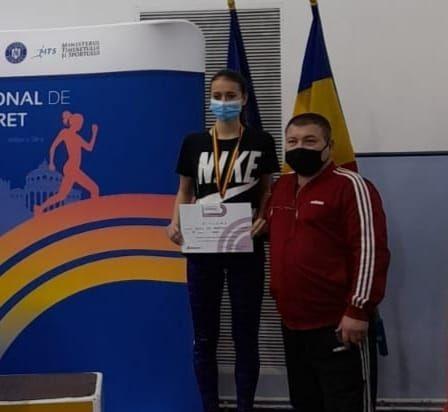 Medalie de bronz obținută de atleta Cristina Vasile Rut, la Campionatul Național de sală rezervat Seniorilor și Tineretului (U23)
