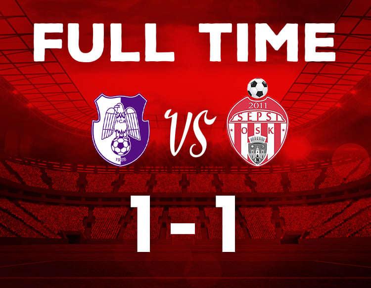 Fotbal - Liga I: FC Argeş - Sepsi OSK Sfântu Gheorghe 1-1