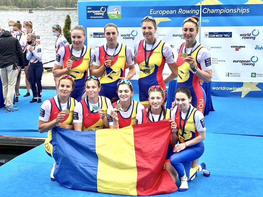 6 medalii pentru România la Campionatele Europene de Canotaj! 2 de aur și 4 de argint!