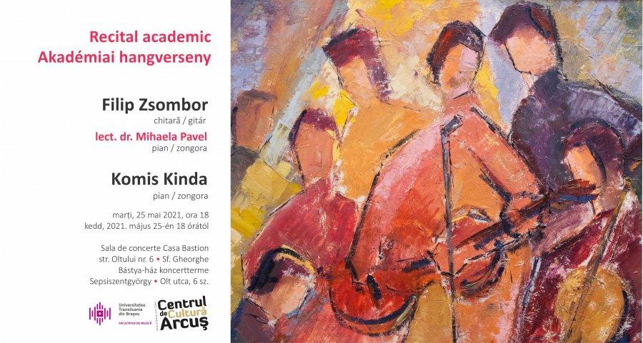 Recital instrumental cu studenți ai Facultății de Muzică din Brașov, mâine, la Centrul de Cultură Arcuș