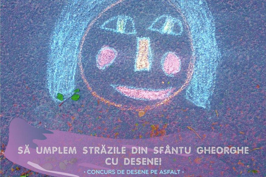 Concurs de Ziua Copilului: să umplem străzile din Sfântu Gheorghe cu desene pe asfalt!
