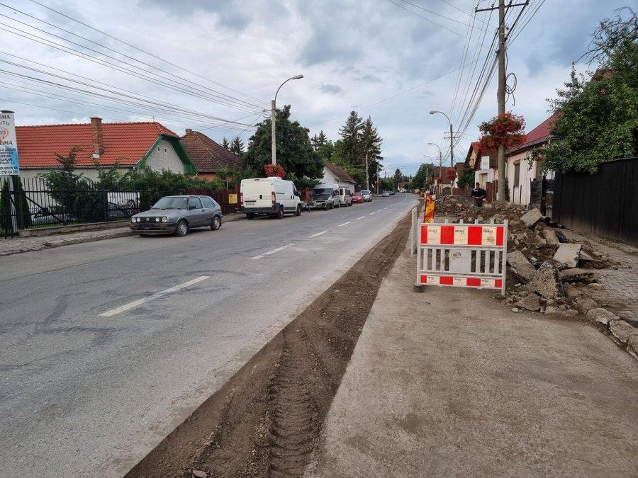 Începe modernizarea străzii Ciucului din Sfântu Gheorghe
