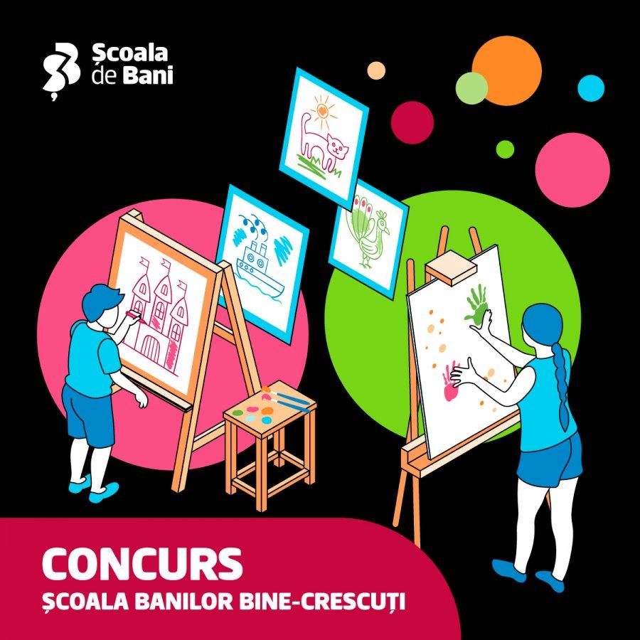 Concurs național: BCR caută școlile cu cei mai talentați copii la desene despre educație financiară și de mediu