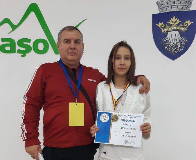 Sportiva CSM, Gărăiacu Electra, medaliată cu bronz la Campionatul Național de Judo U14