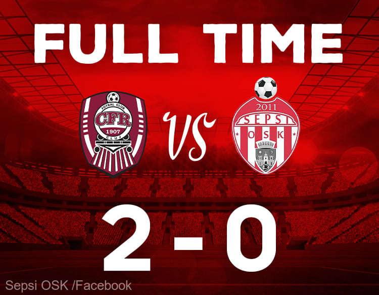 Liga I: CFR Cluj - Sepsi OSK Sfântu Gheorghe 2-0