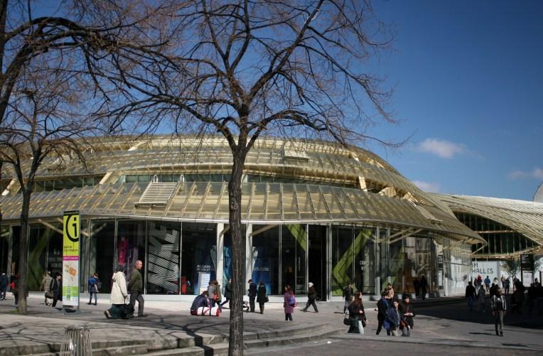 Forum des Halles et la Canopée - Vue de la place des Innocents - Paris - 10 avril 2016 - Photo M.S. Bock-Digne pour Mes Ailleurs