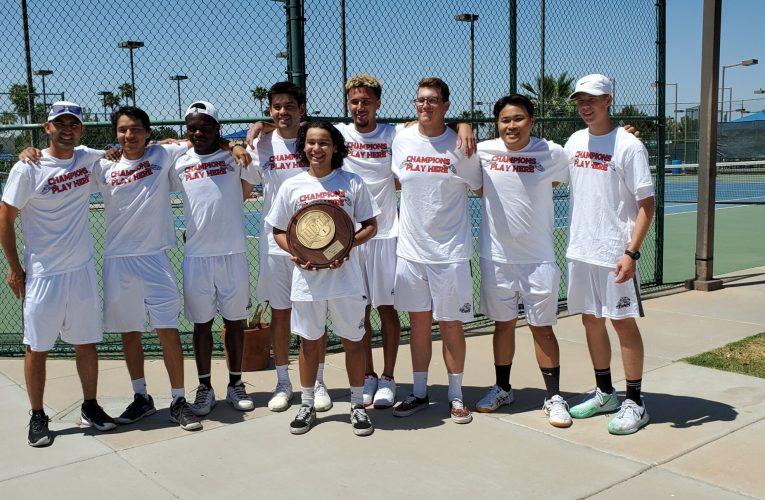 Men's tennis clinches region title