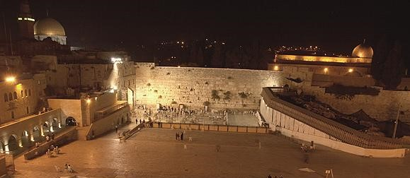 western_wall_by_night