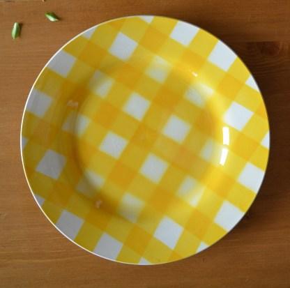Assiette en porcelaine de la manufacture Digoin et Sarreguemines collection ecossais