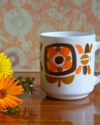 Mug mobil marron et orange