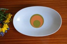 Ravier bareuther waldsassen bavaria germany, motif vintage rond vert et orange