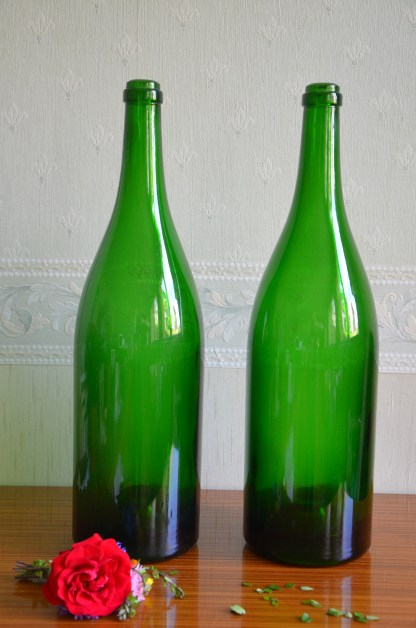 Bouteille de champagne grand format, vintage, idéal pour la décoration !