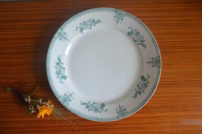 Plat rond de service plat, Sté des Grands Établissements Céramique St Amand 4008 n° 4008, Made in France 1932