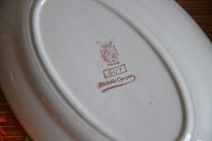 Ravier de la manufacture Sarreguemines et Digoin, France, collection, Guy, Véritable Opaque