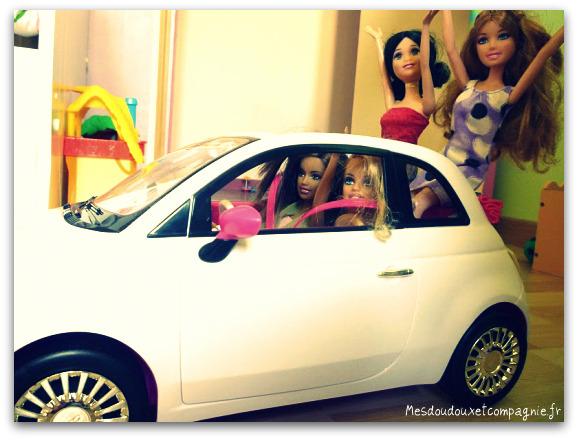 Barbie en fiat 500