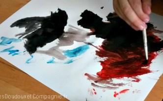 peinture rouge et noir chichi