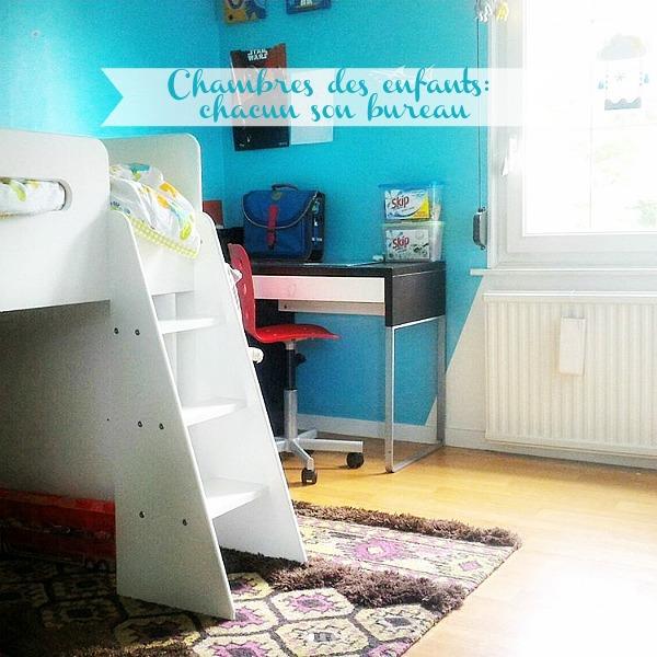 Chambres des enfants : chacun son bureau