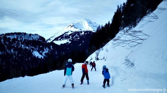 enfant ski piste verte