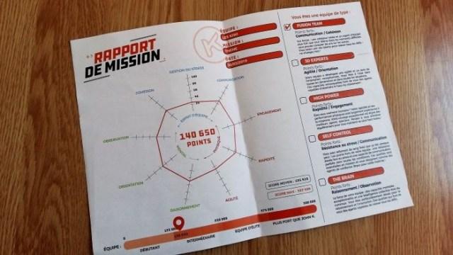 escape game en famille koezio rapport mission