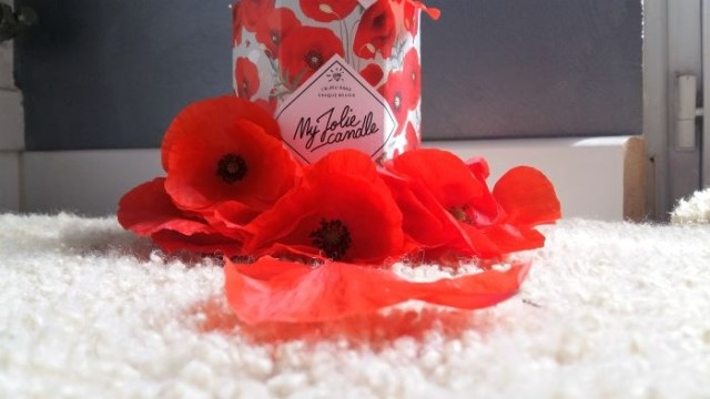 my jolie candle coquelicot