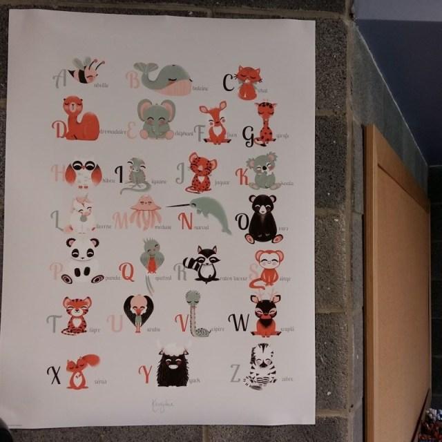 posters pour ma classe alphabet animaux