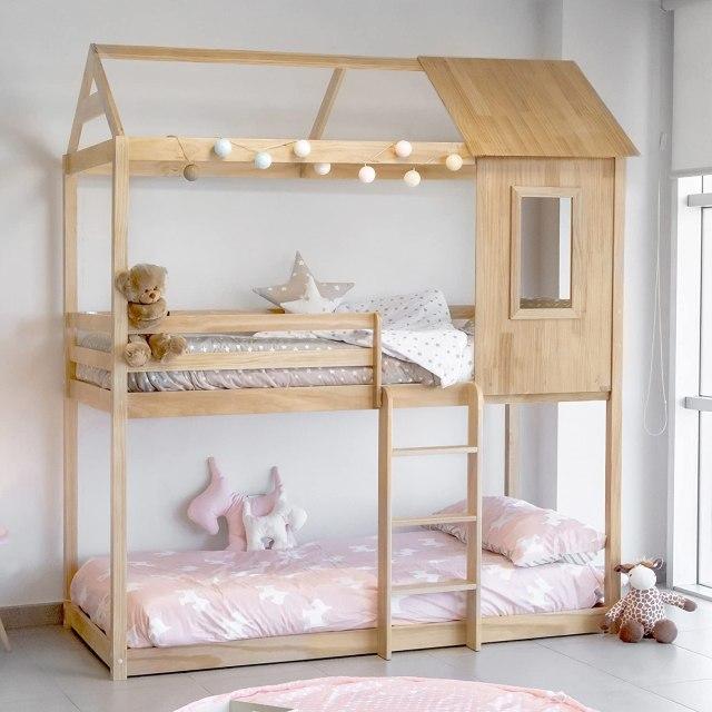 lits superposés cabane montessori