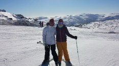 Mum and I on the top of Sun Valley T-bar, loving the view