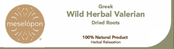 Dried Valerian Herb Roots, Label