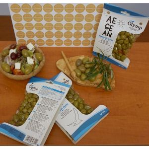 Olymp Aegean Marinated Whole Green Olives With Lemon & Wild Herbs, In Vacuum Packs
