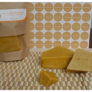 Pure Natural Unrefined Wild Raw Beeswax Bar Free Of Discoloration & Bleaching.