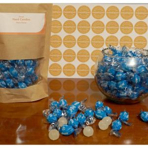 Traditional Hard Round Ouzo Candies Treat, Anise Flavor