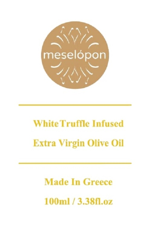 White Truffle Oil, Infused Extra Virgin Olive Oil Cold Pressed 100ml, Label